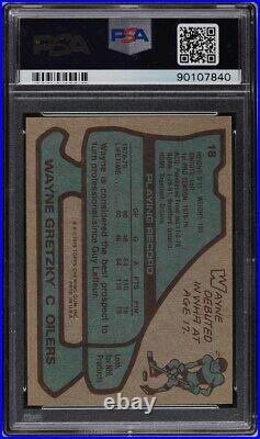 1979 Topps Hockey Wayne Gretzky ROOKIE RC #18 PSA 8 NM-MT