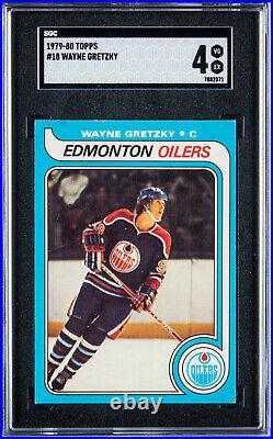 1979 Topps Wayne Gretzky #18 Rookie Hockey Card SGC 4 VG-EX Eye Appeal