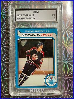 1979 Topps Wayne Gretzky #18 Rookie card Rc GCM EX 5