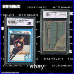 1979 Topps Wayne Gretzky ROOKIE CARD RC #18 GEM MINT 10 Gretzky RC (LOW POP)