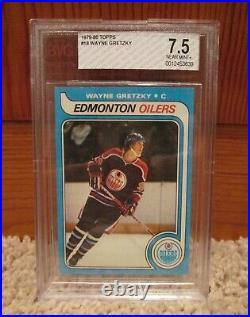 1979 Topps Wayne Gretzky Rookie Card #18 BVG Beckett 7.5