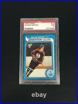 1979 Wayne Gretzky Topps #18 PSA 7 NM Rookie RC Hockey Card Edmonton Oilers