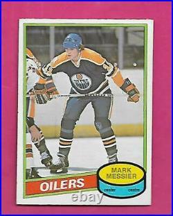 1980-81 Opc # 289 Oilers Mark Messier Error Rookie Nrmt Card (inv# D7365)