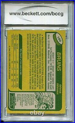 1980 OPC Hockey #140 Ray Bourque Rookie Card RC Beckett Graded BCCG 9 O-Pee-Chee