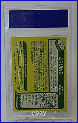 1980 O-Pee-Chee OPC Hockey Ray Bourque ROOKIE CARD RC #140 PSA 8 NM-MT HOF