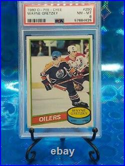 1980 O-Pee-Chee Wayne Gretzky #250 PSA 8 OPC HOF NEW Case! Mr-Card
