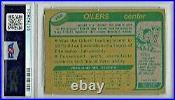 1980 Topps #250 Wayne Gretzky Edmonton Oilers HOF Hockey Card PSA 8 NM MINT
