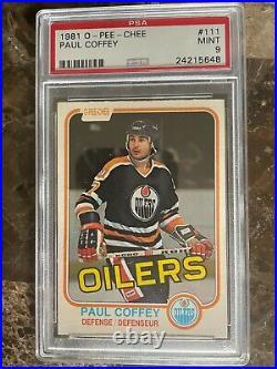 1981-82 O-Pee-Chee Paul Coffey (HOF) Rookie Card #111 PSA 9 Mint