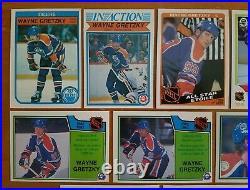 1982 to 1986 O-Pee-Chee Wayne Gretzky Scoring Leaders/Record Breaker 18-Card Lot
