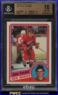 1984 O-Pee-Chee Hockey Steve Yzerman #67 BGS 10 PRISTINE