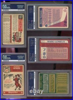 1985 O-Pee-Chee #9 Mario Lemieux ROOKIE OPC OPeeChee PSA 7 Graded Card 1985-86
