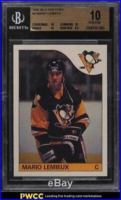 1985 O-Pee-Chee Hockey Mario Lemieux ROOKIE RC #9 BGS 10 PRISTINE