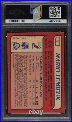 1985 O-Pee-Chee Hockey Mario Lemieux ROOKIE RC #9 PSA 10 GEM MINT (PWCC-A)