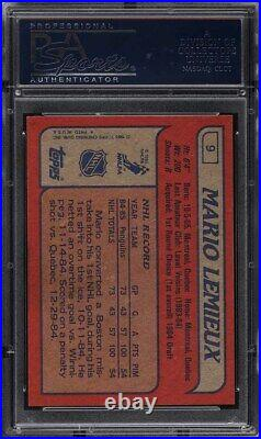 1985 Topps Hockey Mario Lemieux ROOKIE RC #9 PSA 10 GEM MINT