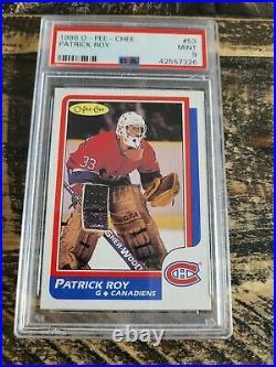 1986-87 O-Pee-Chee Patrick Roy Rookie Card #53 PSA 9 MINT Hockey