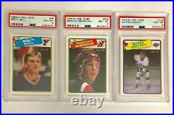 1988-89 O-Pee-Chee hockey complete set 1-264, includes 3 PSA graded cards