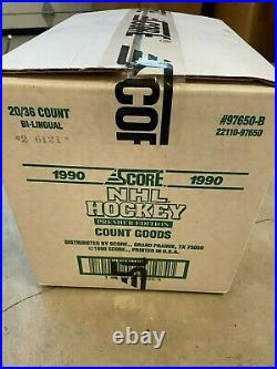 1990 Score Canadian Hockey Cards 20 Box Case Look 4 Lindros Jagr Brodeur PSA 10