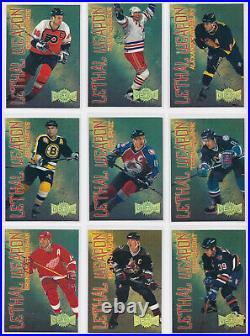1996-97 Metal Lethal Weapon Super Power 18 Card Lot Fedorov Lemieux Selanne RARE