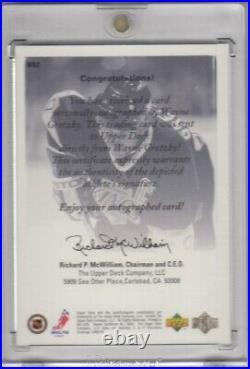 1999/00 Ud Authentics Wayne Gretzky Sp Auto Tough To Find