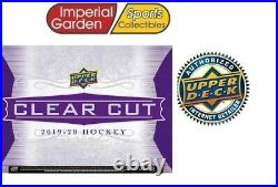 19-20 Ud Clear Cut Hockey Factory Sealed Hobby Box Canada Ship Only