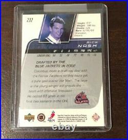 2002-03 Upper Deck Young Guns Rick Nash Rookie Card #232