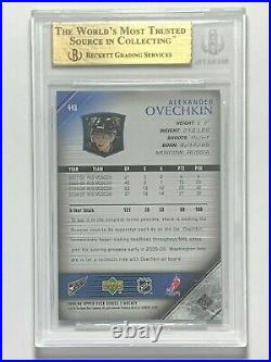 2005-06 Alex Ovechkin Upper Deck Young Guns #443 Rookie RC BGS 9.5 GEM PSA 10