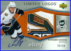 2005-06 Cup Alexander Ovechkin Limited Logos 20/50 Auto 4 Color Game Used Patch