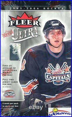2005/06 Fleer Ultra Hockey Sealed HOBBY Box-2 MEM! Sidney Crosby, Ovechkin RC YR