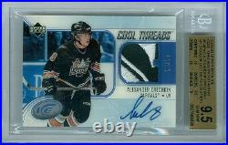 2005-06 Ice Alexander Ovechkin Cool Threads Rc Auto Rookie 13/15 Bgs 9.5