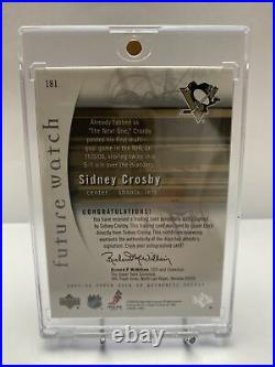 2005-06 Sidney Crosby Sp Authentic Future Watch Rookie Autograph /999 Rc Auto
