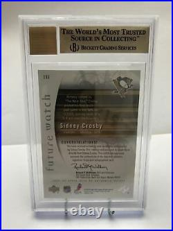 2005-06 Sidney Crosby Sp Authentic Future Watch Rookie Autograph Bgs 9.5 /999