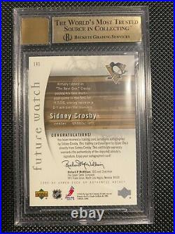 2005-06 Sp Authentic Future Watch Auto Sidney Crosby BGS 9.5 /999