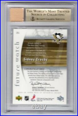 2005-06 Sp Authentic Future Watch Rookie Rc Auto /999 Bgs 9.5 Sidney Crosby Hof
