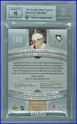 2005-06 THE CUP SIDNEY CROSBY ROOKIE RC 61/99 BGS 9 HUGE SUBS. 5 AWAY from 9.5
