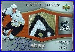 2005-06 The Cup Sidney Crosby Limited Logos Rpa Rookie Patch Auto #/50 The Skate