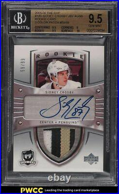 2005-06 The Cup Sidney Crosby ROOKIE PATCH AUTO /99 #180 BGS 9.5 GEM MINT