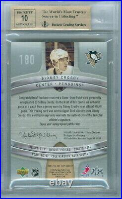 2005-06 The Cup Sidney Crosby Rookie Rc 8/99 Bgs 9.5 Gem Mint! Game Used Patch