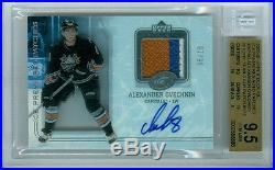 2005-06 U. D. Ice Premieres Auto Patches Alexander Ovechkin Rookie Bgs 9.5 5/10
