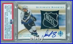 2005-06 Ultimate Collection #92 Alexander Ovechkin Rookie Auto Shield 1/1