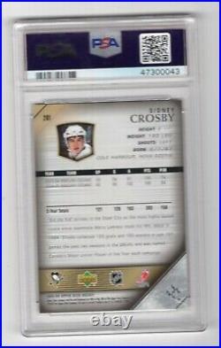 2005-06 Upper Deck #201 Young Guns Rookie Rc Card Sidney Crosby Psa 9 Hof