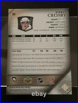2005-06 Upper Deck Young Guns #201 SIDNEY CROSBY Rookie Card- GRADABLE- MINT+