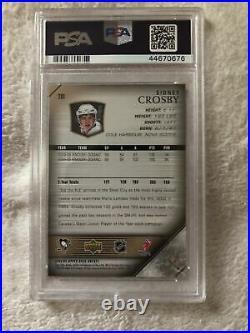 2005-06 Upper Deck Young Guns #201 Sidney Crosby RC Rookie PSA 10 GEM MINT