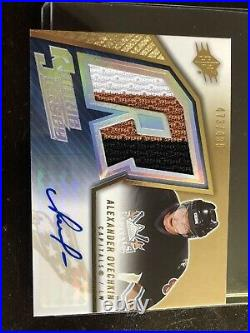 2005 SPX ROOKIE JERSEY Alexander Ovechkin RC Auto 499 RPA Rookie No Reserve