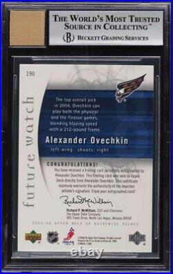 2005 SP Authentic Alexander Ovechkin ROOKIE RC AUTO /999 #190 BGS 9 MINT