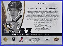 2008-09 Ud The Cup Honorable Numbers Sidney Crosby Patch Auto 56/87 Penguins