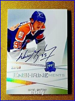 2009-10 Wayne Gretzky The Cup Autograph Enshrinements /50 On Card Auto CE-WG Gem