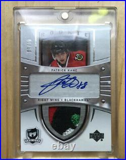2009 Patrick Kane The Cup #3/10 Sidney Crosby Rookie Tribute Auto Patch 4 Color