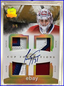 2010/11 Upper Deck The Cup Cup Foundation Carey Price Quad Patch Auto 3/5