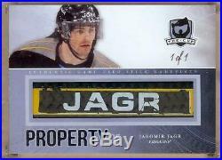 2011-12 The Cup Property Of Stick Nameplate Jaromir Jagr 1/1