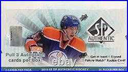 2011-12 Upper Deck SP Authentic hockey cards Hobby Box